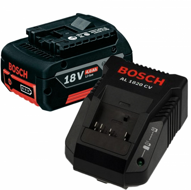 bosch pack 1 batterie 18v 40 ah 1 chargeur al1820cv. Black Bedroom Furniture Sets. Home Design Ideas