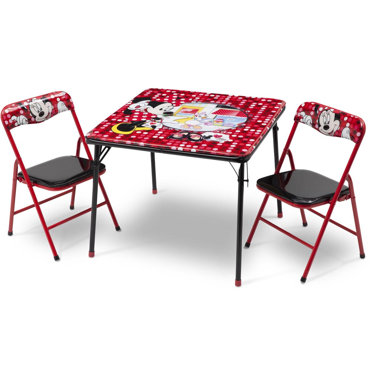 disney ensemble table et chaises pliante minnie mouse de. Black Bedroom Furniture Sets. Home Design Ideas