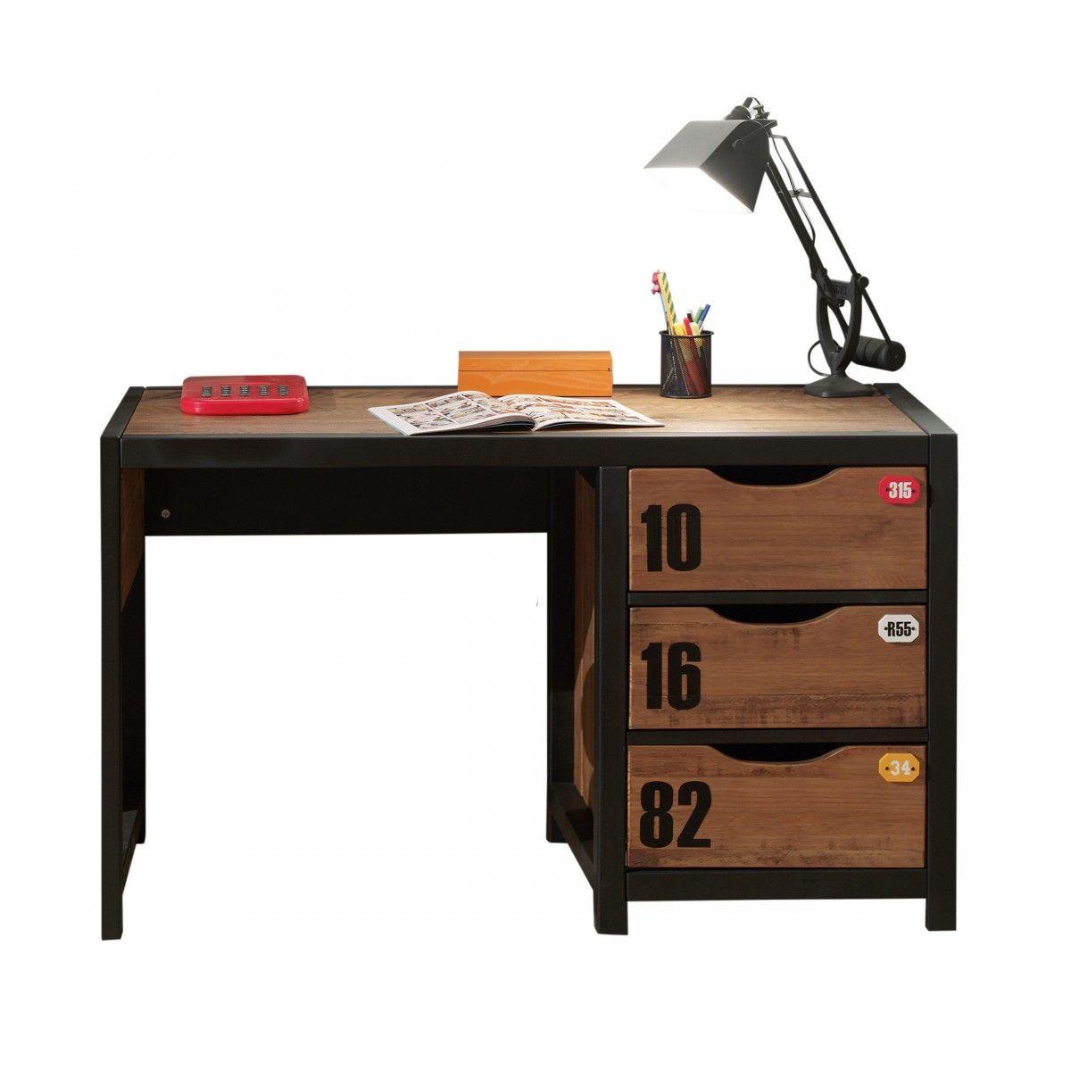 terre bureau enfant bois mtal victor de nuit. Black Bedroom Furniture Sets. Home Design Ideas