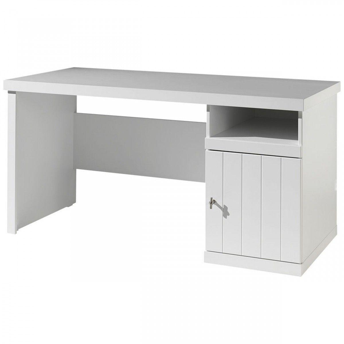 terre bureau en bois blanc mgve bu1011 de nuit. Black Bedroom Furniture Sets. Home Design Ideas