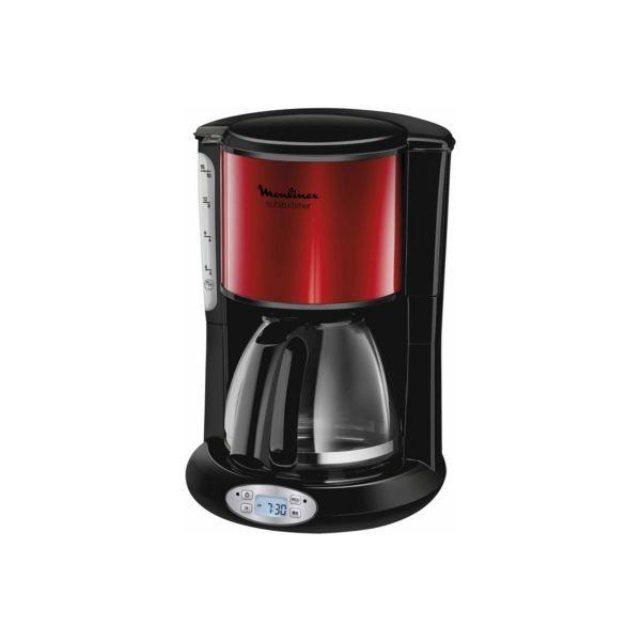 cafeti re programmable moulinex fg362d10 inox rouge. Black Bedroom Furniture Sets. Home Design Ideas