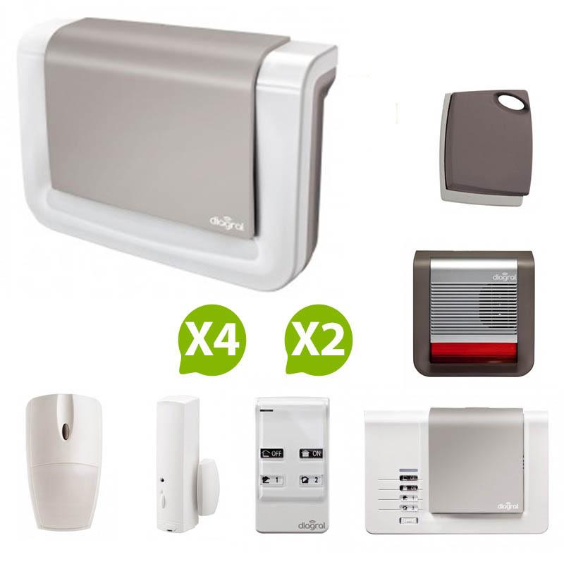 diagral alarme sans fil de maison nf a2p protection 2. Black Bedroom Furniture Sets. Home Design Ideas