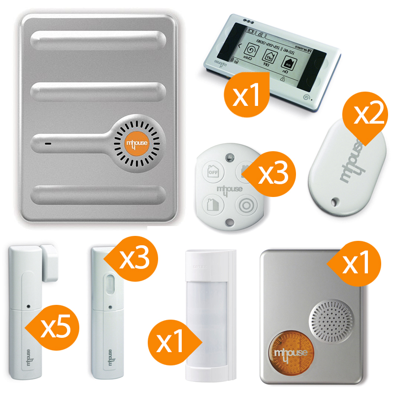 mhouse alarme gsm sans fil kit 7. Black Bedroom Furniture Sets. Home Design Ideas