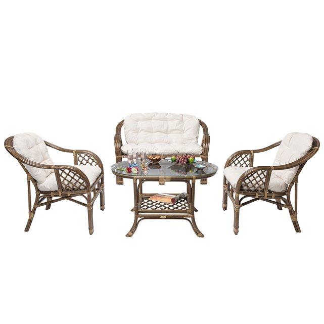 rotin ensemble salon en balk. Black Bedroom Furniture Sets. Home Design Ideas