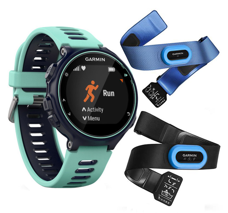 garmin c forerunner 735xt bleu vert deau tri bundle. Black Bedroom Furniture Sets. Home Design Ideas