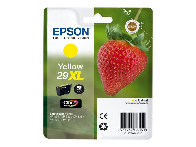 epson t2994 epson 29xl epson fraise jaune cartouche dencre compatible. Black Bedroom Furniture Sets. Home Design Ideas