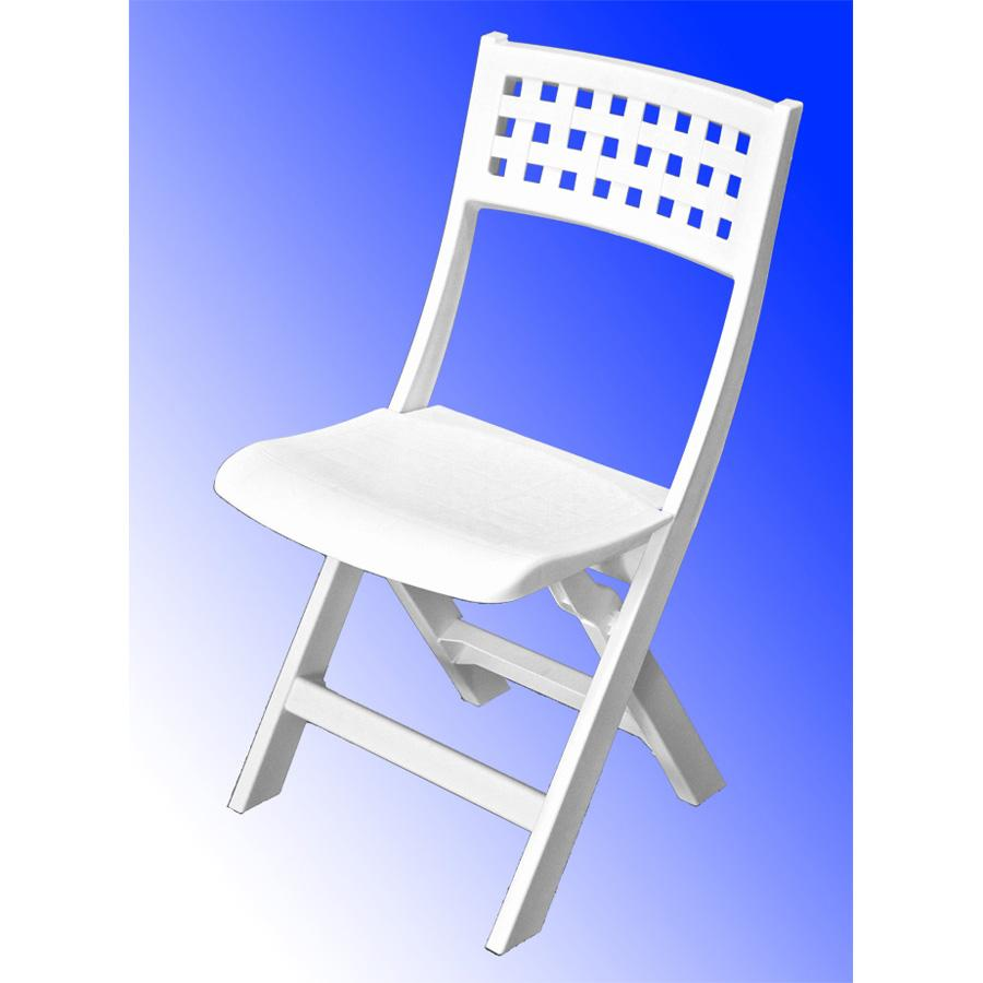 Chaise de jardin miami bistrot blanc for Chaise miami bistrot