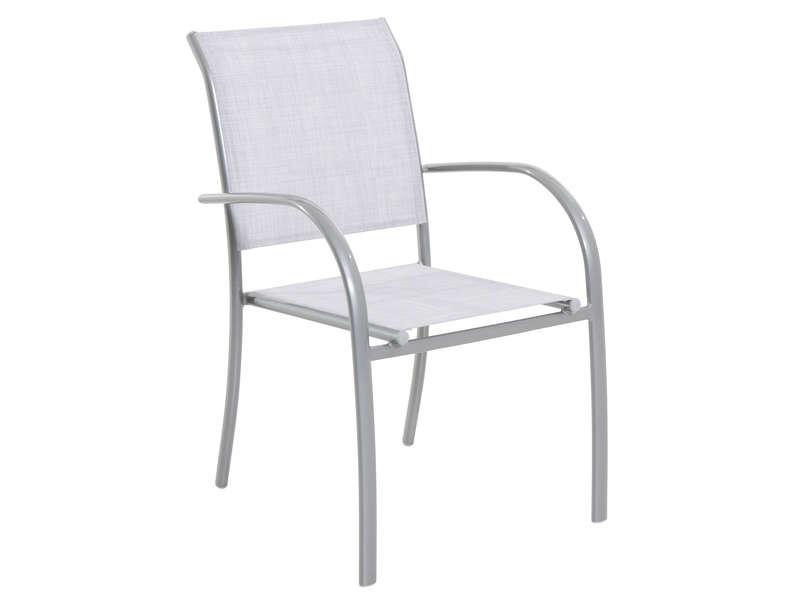 Conforama Chaise pliante de jardin TABARCA coloris gris