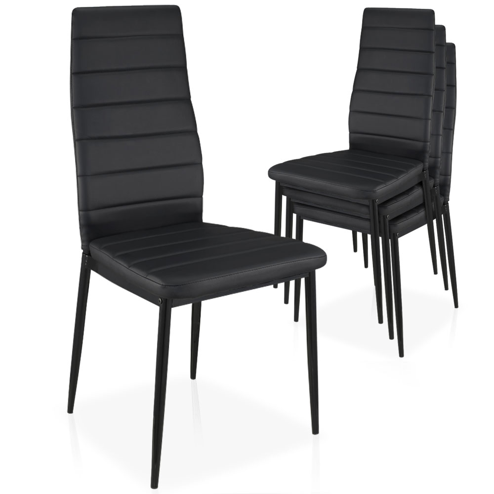 no lot de 4 chaises stratus empilables ir. Black Bedroom Furniture Sets. Home Design Ideas
