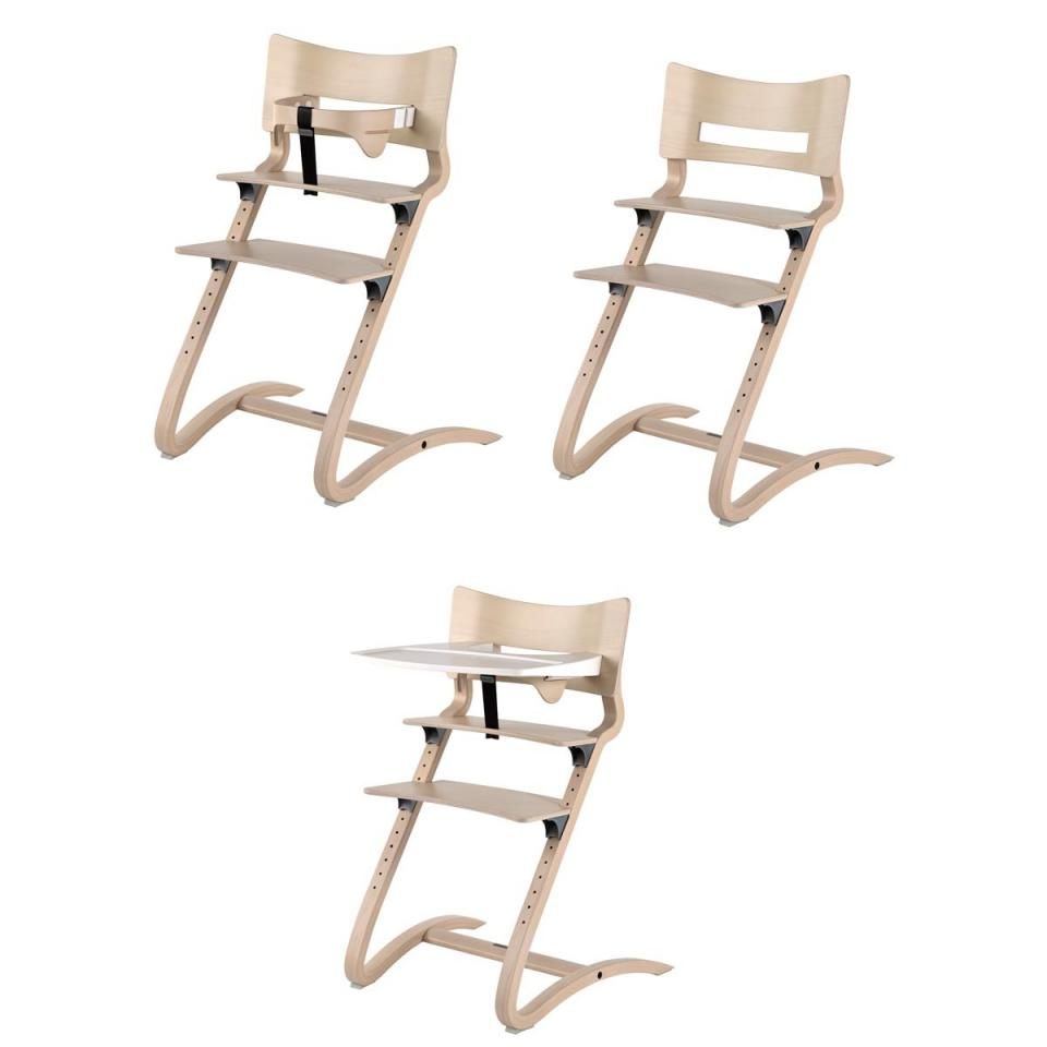 leander chaise haute volutive noyer. Black Bedroom Furniture Sets. Home Design Ideas
