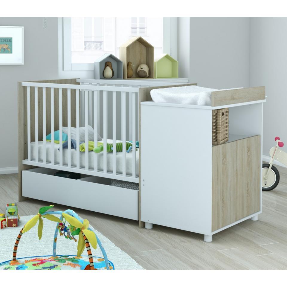 terre lit bb 60x120 avec tiroir evolutif en lit enfant. Black Bedroom Furniture Sets. Home Design Ideas