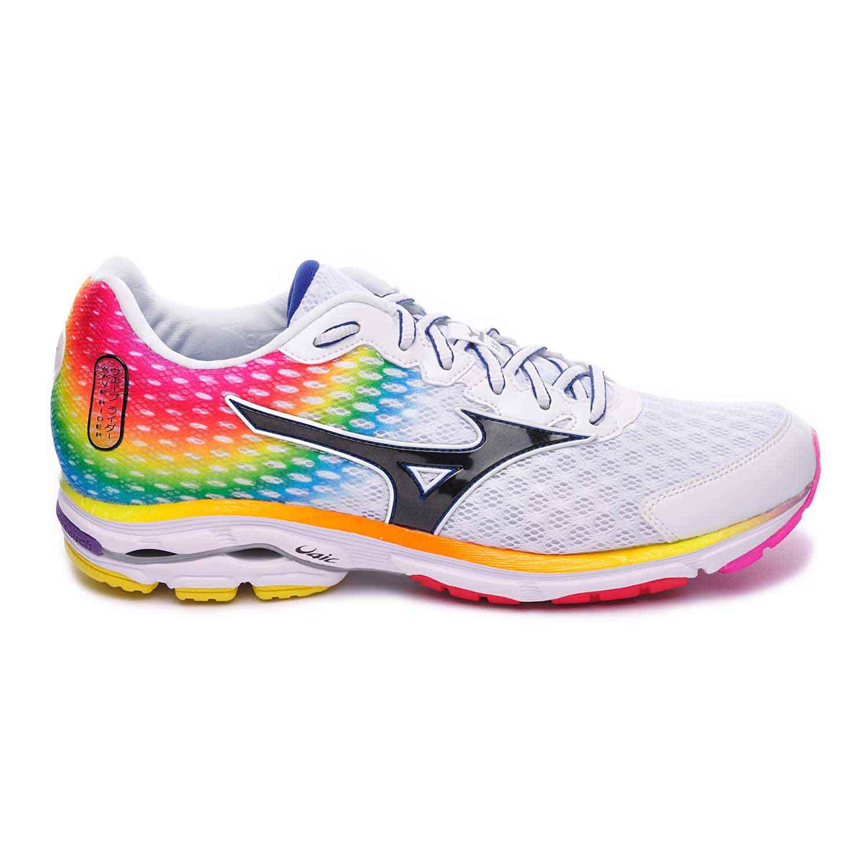 Chaussures de Running Mizuno Wave Rider 18 - blanc