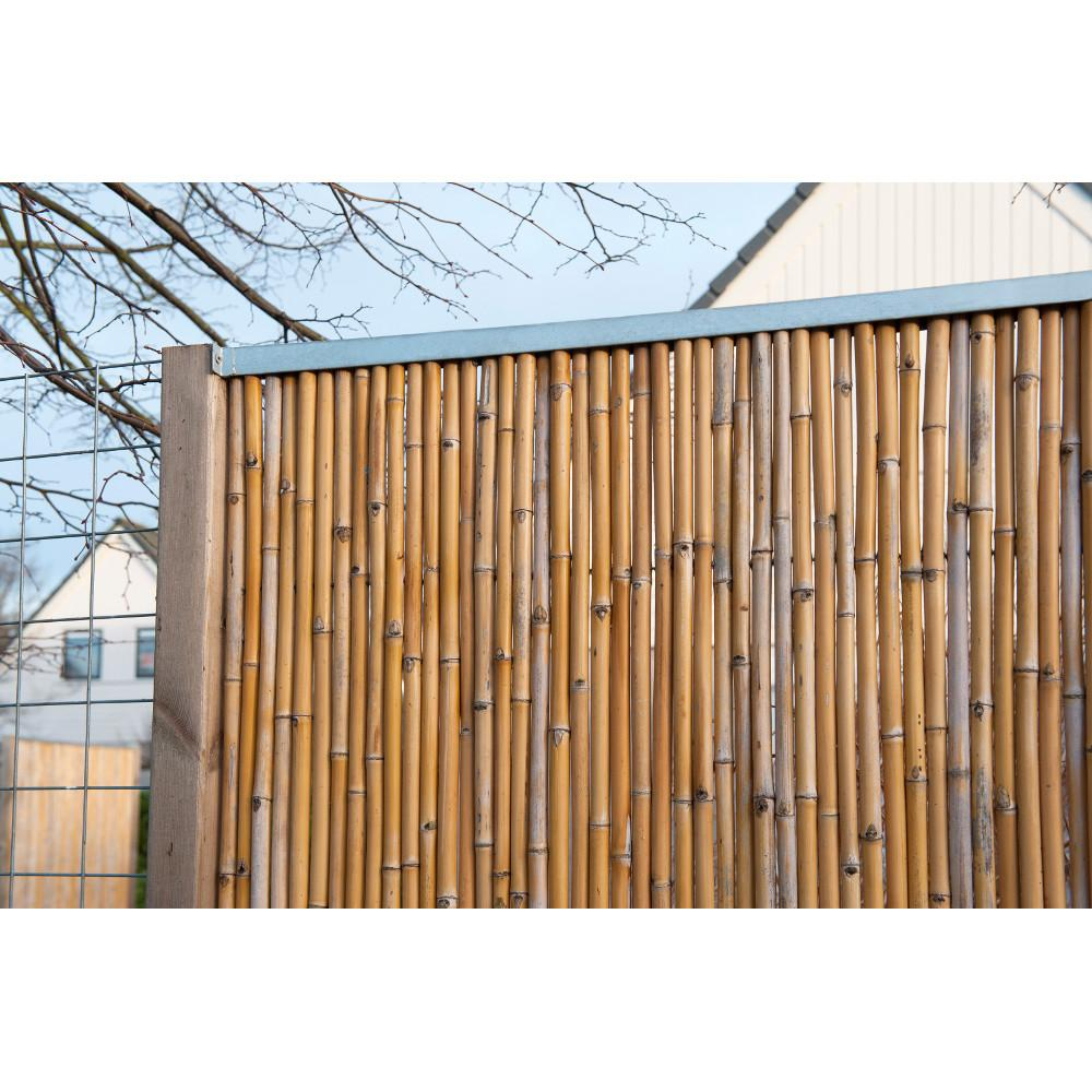 Nature cprofil en acier galvanis pour cran en bambou l for Bordurette acier pour jardin