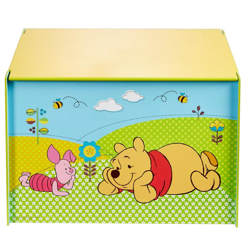 disney coffre jouets bois et tissu princesses. Black Bedroom Furniture Sets. Home Design Ideas