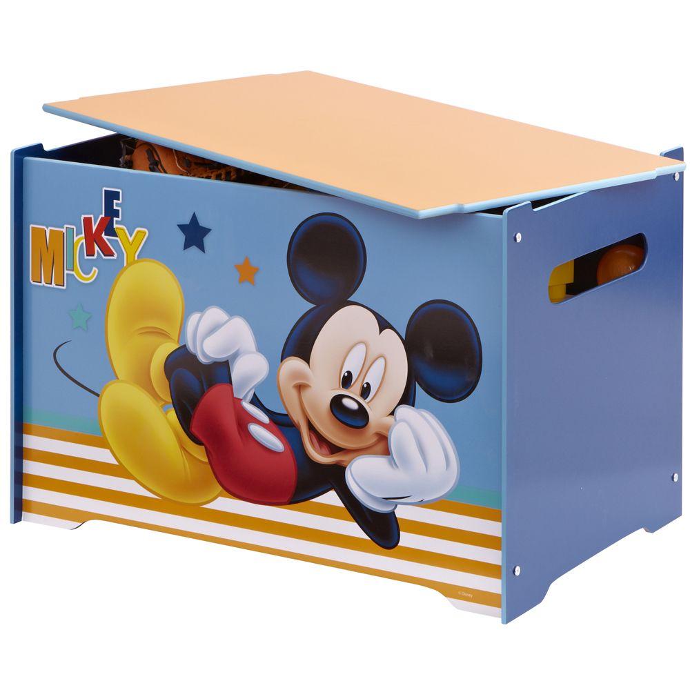 Disney coffre jouets mickey mouse - Coffre a jouet mickey ...