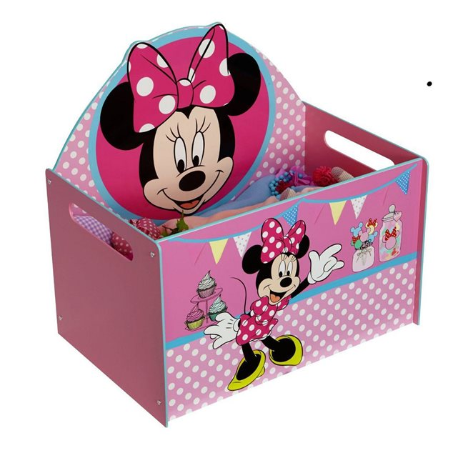 Disney Coffre à jouets Minnie rose