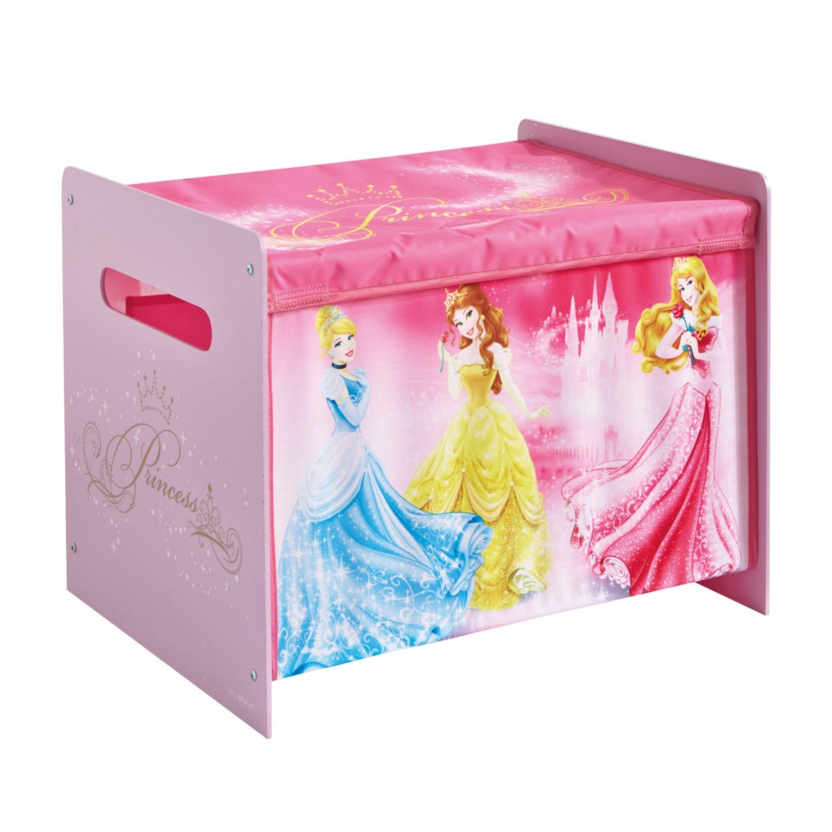 someo coffre de rangement en tissu princesses disney. Black Bedroom Furniture Sets. Home Design Ideas