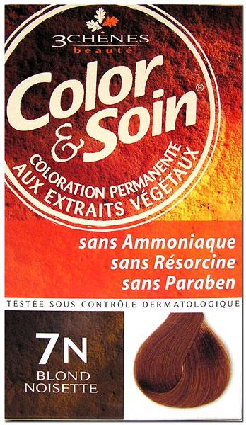 3 chenes color soin coloration blond noisette 7n - Coloration Nature Et Soin