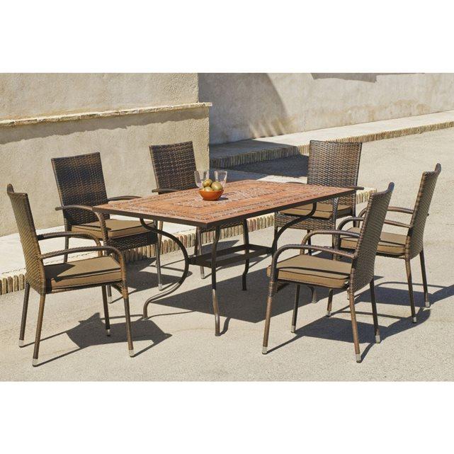 Hevea c ensemble jardin fauteuil rsine teide bergamo for Coussins pour fauteuil de jardin