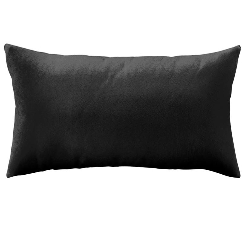 Coussin en velours uni rectangle - Coussin graphique noir et blanc ...