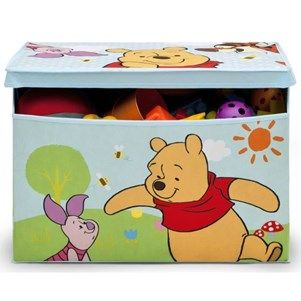 disney coffre jouets en tissu winnie lourson. Black Bedroom Furniture Sets. Home Design Ideas