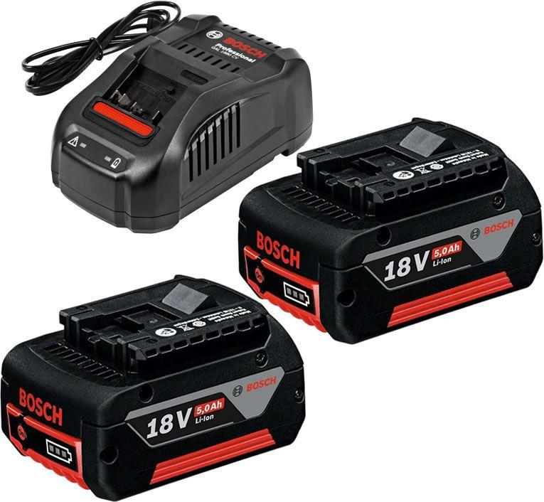 bosch pack de 2 batteries 18v 5ah li ion 1 chargeur. Black Bedroom Furniture Sets. Home Design Ideas