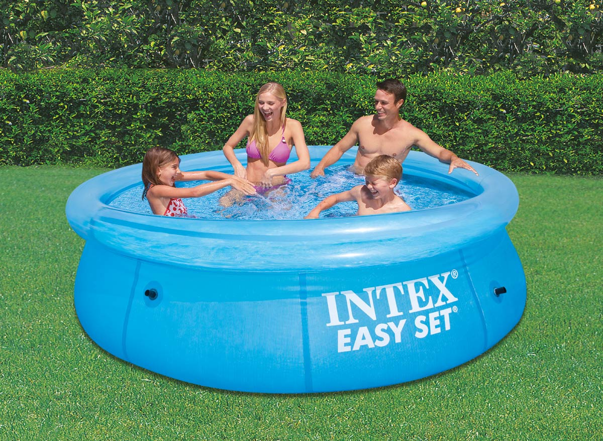 Intex cbanquette gonflable pour spa jets rond catgorie for Piscine easy set