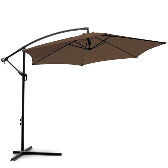 miadomodo parasol d port amps04 3 m marron. Black Bedroom Furniture Sets. Home Design Ideas