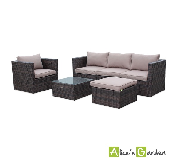 alice cs garden salon de jardin benito marron en r sin. Black Bedroom Furniture Sets. Home Design Ideas