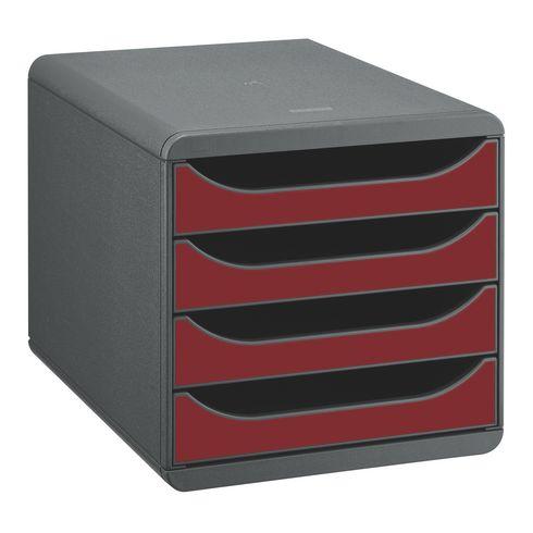 exacompta c module de classement big box 4 tiroirs gris sour. Black Bedroom Furniture Sets. Home Design Ideas