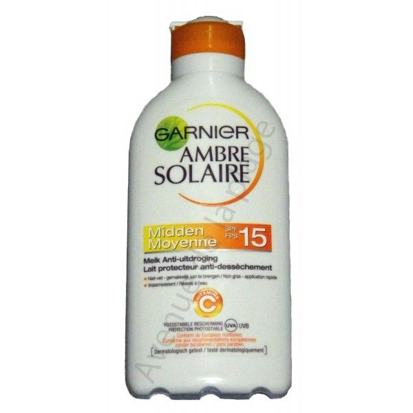 garnier ambre solaire cr me solaire spf 15. Black Bedroom Furniture Sets. Home Design Ideas