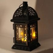 best clantern lanterne m tal noir votive led h20cm lampe. Black Bedroom Furniture Sets. Home Design Ideas