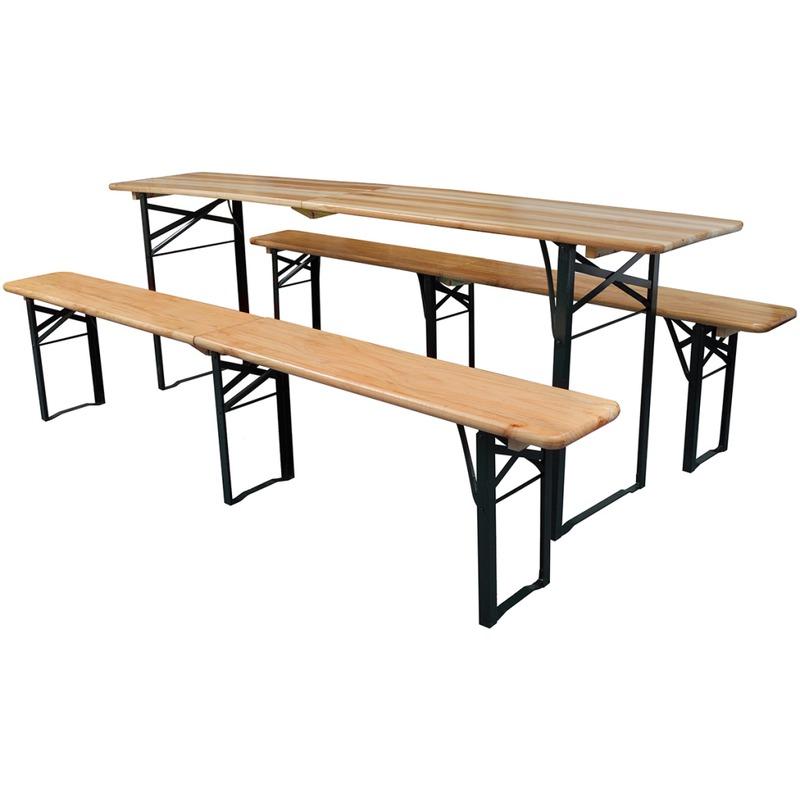 Vidaxl Table de brasserie pliante et 2 bancs pliants