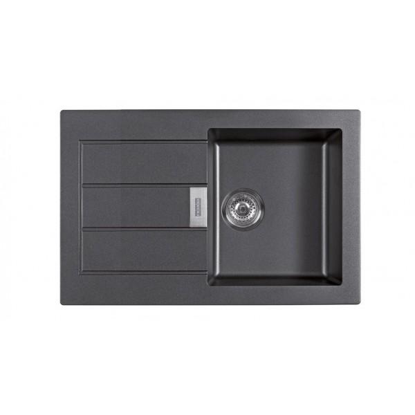 franke evier eviers dangle fragranit sid611 78 carbon. Black Bedroom Furniture Sets. Home Design Ideas
