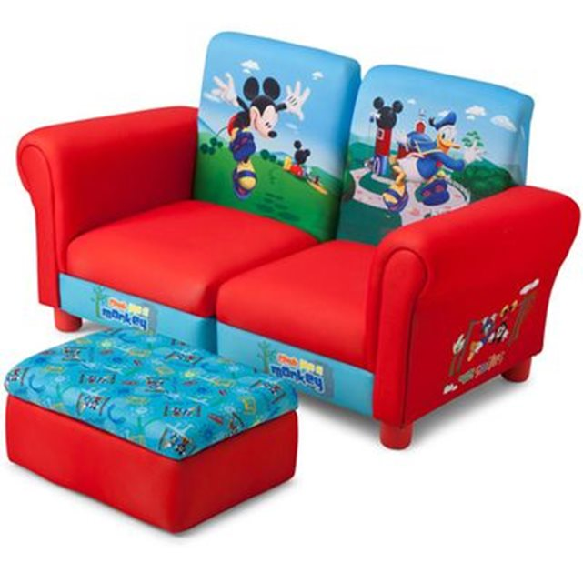 delta c canap club et repose pied mickey mouse disney. Black Bedroom Furniture Sets. Home Design Ideas