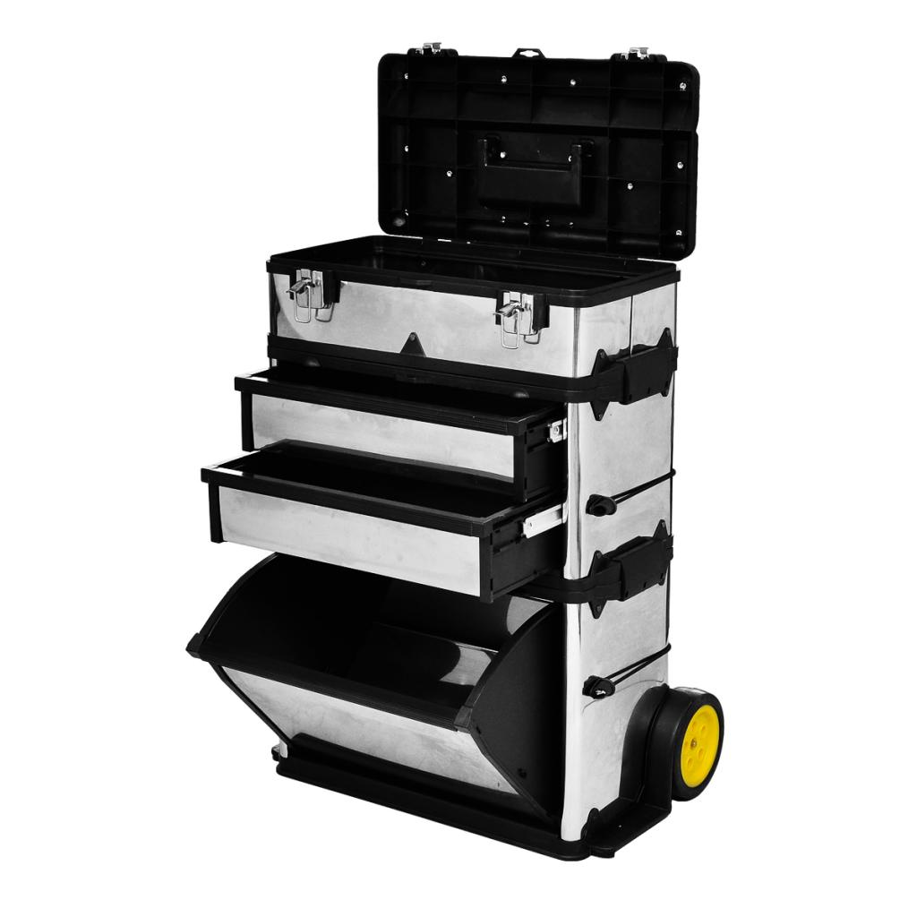 vidaxl c caisse valise coffre bo te outils roulette. Black Bedroom Furniture Sets. Home Design Ideas