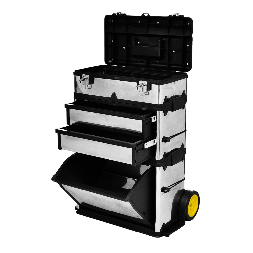 Vidaxl c caisse valise coffre bo te outils roulette - Porta portese offerte lavoro autista ...