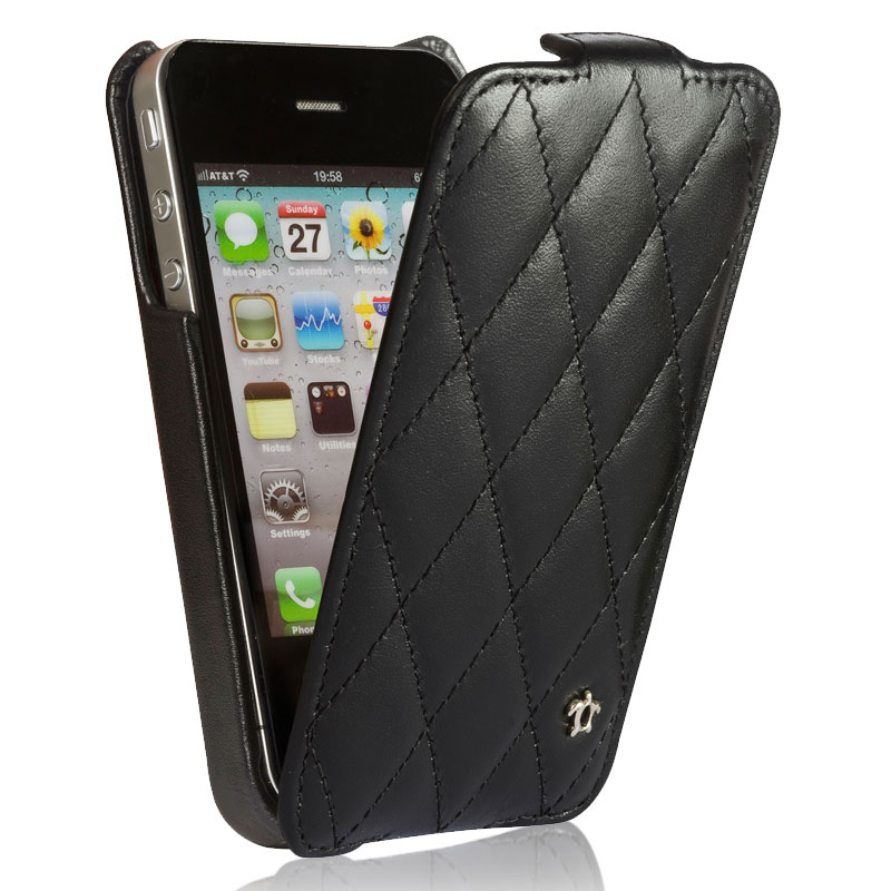 5 housse pour iphone 4 4s cuir eb ne collection for Housse iphone 4 cuir