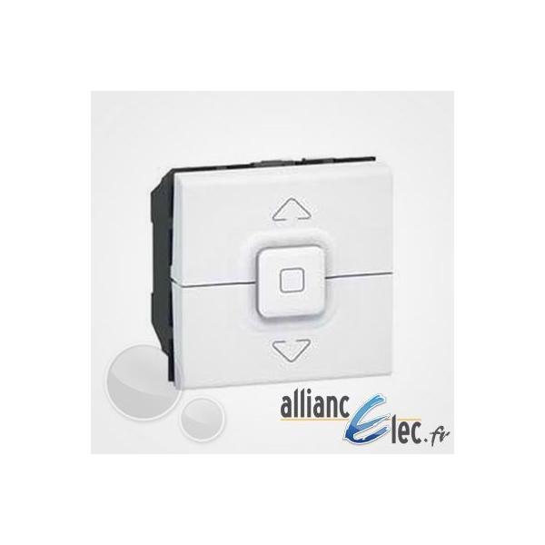 legrand poussoir volet roulant mosaic 2 modules blanc. Black Bedroom Furniture Sets. Home Design Ideas