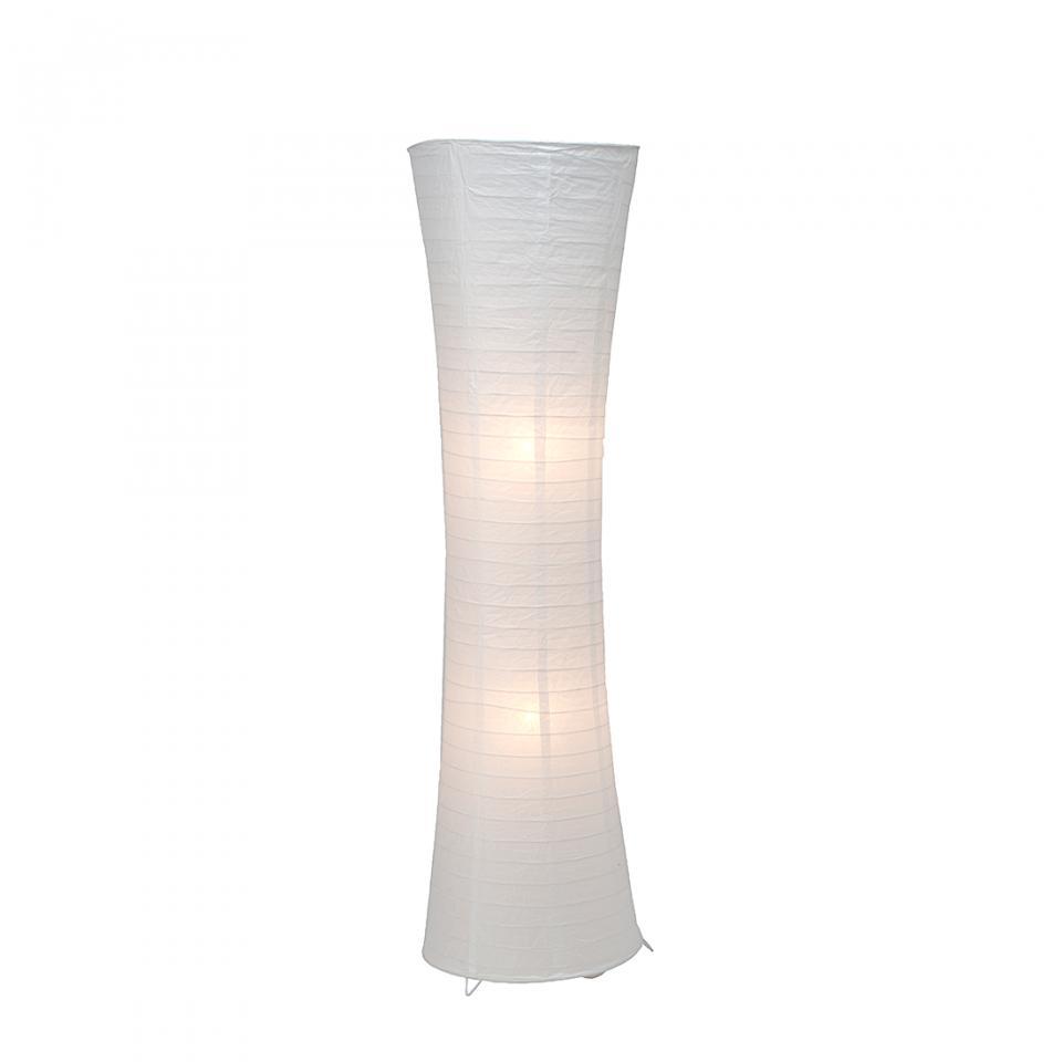 Brilliant lampadaire becca 2x60w e27 blanc 92961 05 - Lampe papier de riz ...