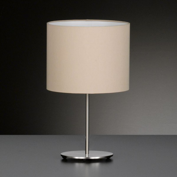 Honsel clampe de table estadio nickel mat 1 lumire for Lampe de salon moderne