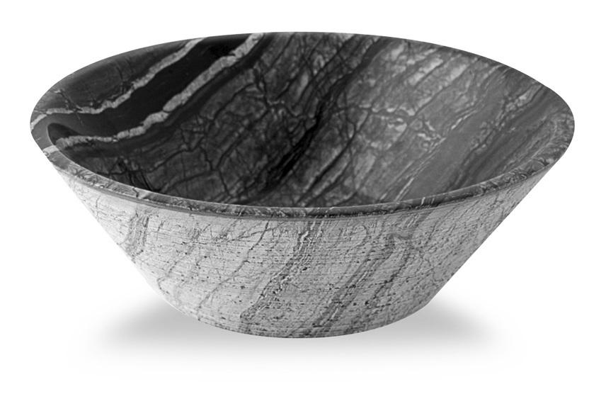capri cvasque en pierre ronde kuna marbre gris. Black Bedroom Furniture Sets. Home Design Ideas