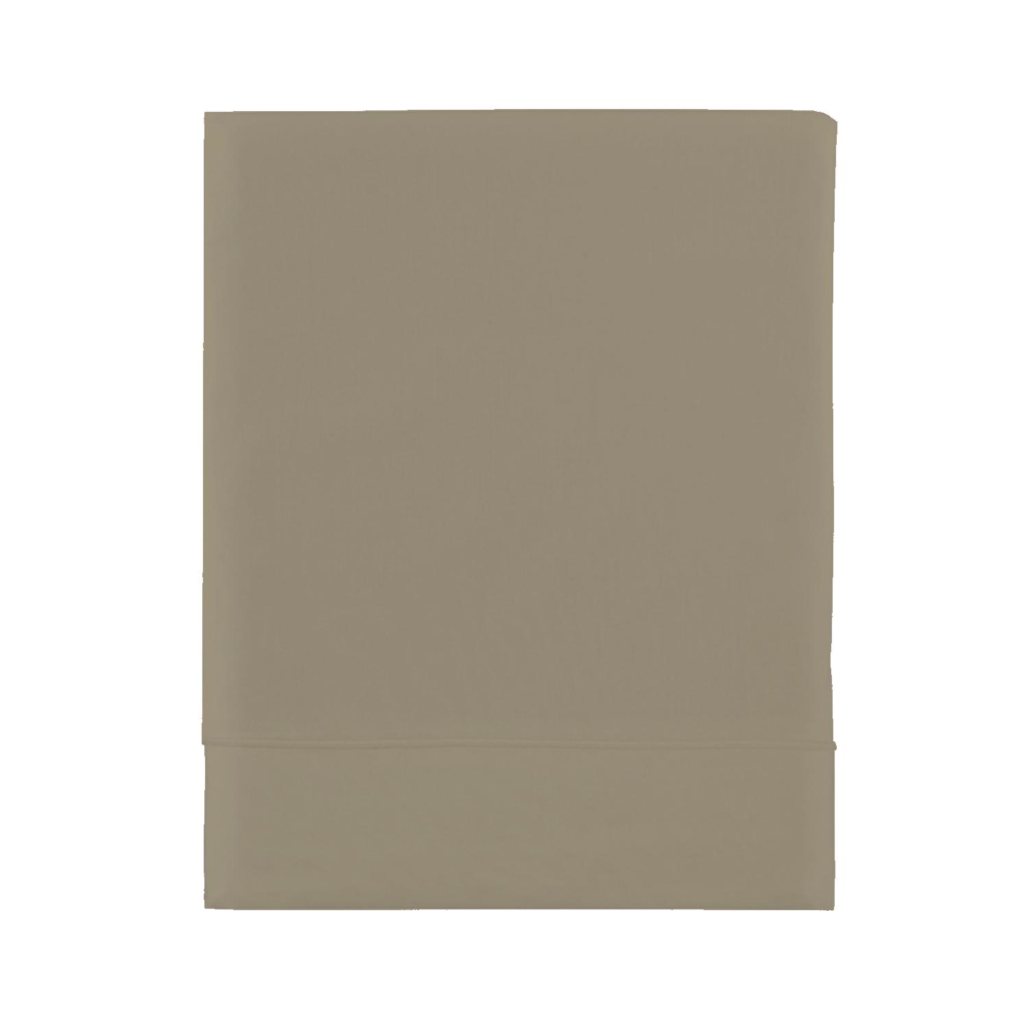 Essix c percale coton drap de lit taupe for Draps de lit