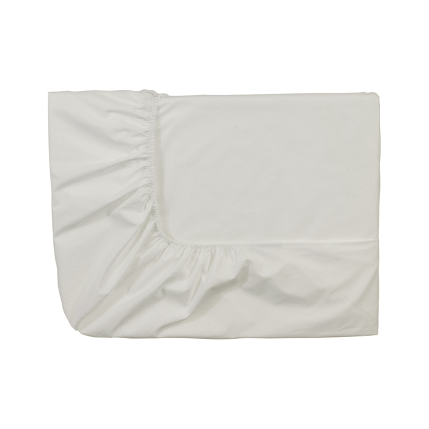 Essix c percale coton drap housse meringue for Drap housse lit rond