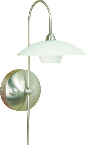 steinhauer capplique aleppo acier inoxydable 1 lumi re 46. Black Bedroom Furniture Sets. Home Design Ideas
