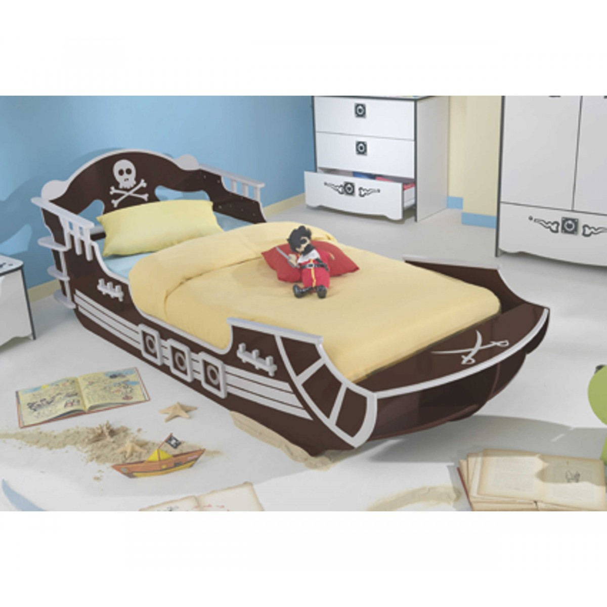 lit enfant bateau pirate hoze home. Black Bedroom Furniture Sets. Home Design Ideas