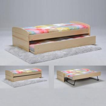 lit romain 90 x 190 cm laqu blanc. Black Bedroom Furniture Sets. Home Design Ideas
