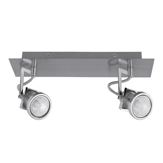 divers c anabel barre 2 spots chrome l32cm applique s. Black Bedroom Furniture Sets. Home Design Ideas