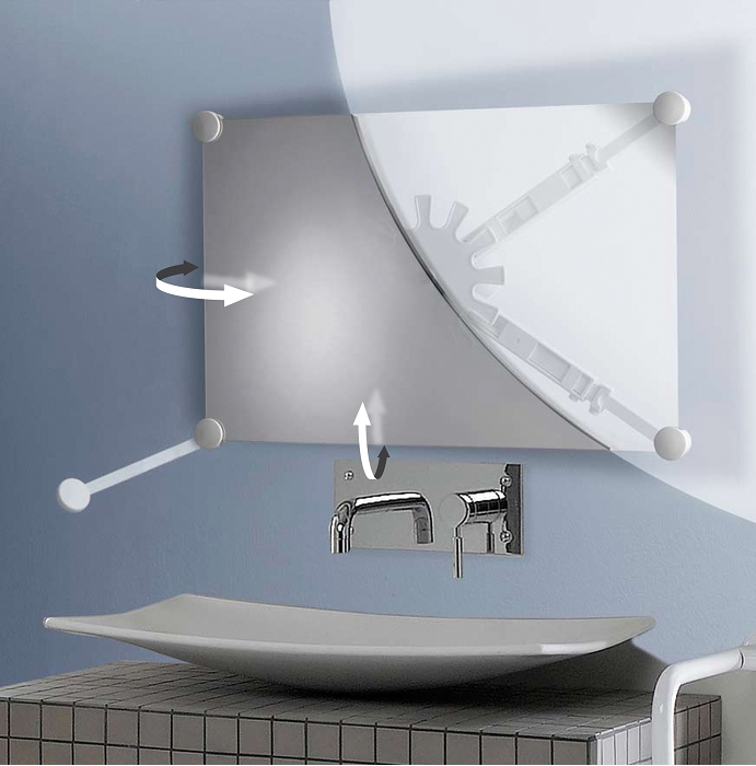 Pellet Support Miroir Orientable Multidirectionnel Blanc