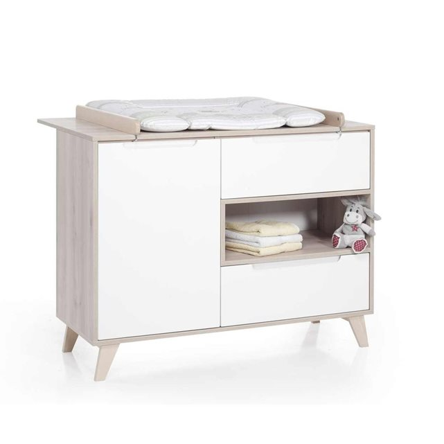 Geuther commode langer mette naturel blanc - Table a langer geuther clarissa ...